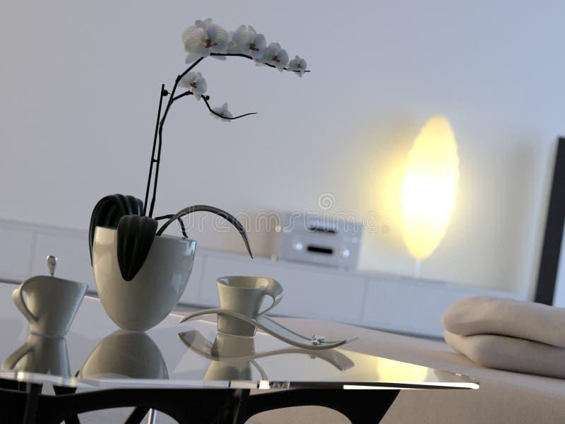 εσωτερικό σύγχρονο orchid απεικόνιση αποθεμάτων