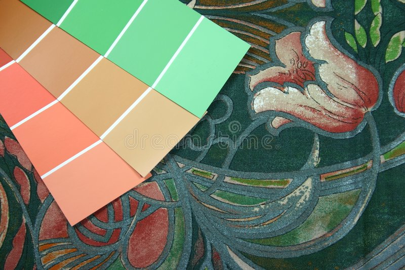 εσωτερικό ταίριασμα χρώμα& στοκ φωτογραφία με δικαίωμα ελεύθερης χρήσης