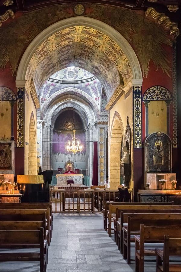 Εσωτερικό της αρμενικής εκκλησίας καθεδρικών ναών σε Lviv, Ουκρανία στοκ εικόνες