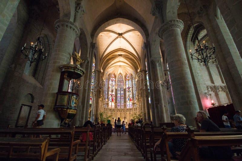 Εσωτερικό της βασιλικής Αγίου Nazarius και Κελσίου στο σφάγιο στοκ φωτογραφία