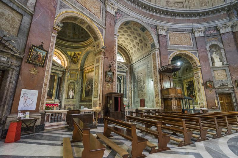 Εσωτερικό της βασιλικής του dei Martiri Angeli ε degli της Σάντα Μαρία στοκ εικόνα με δικαίωμα ελεύθερης χρήσης