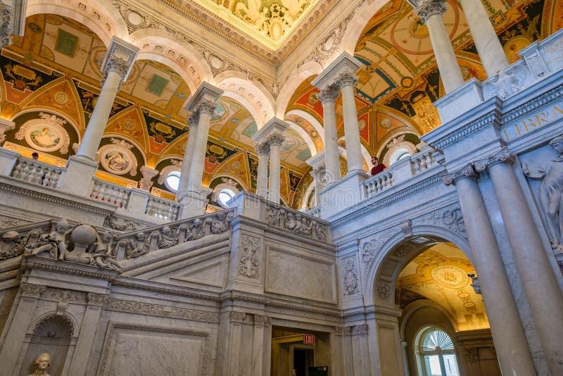 Εσωτερικό της βιβλιοθήκης του Κογκρέσου στην Ουάσιγκτον Δ Γ στοκ φωτογραφίες