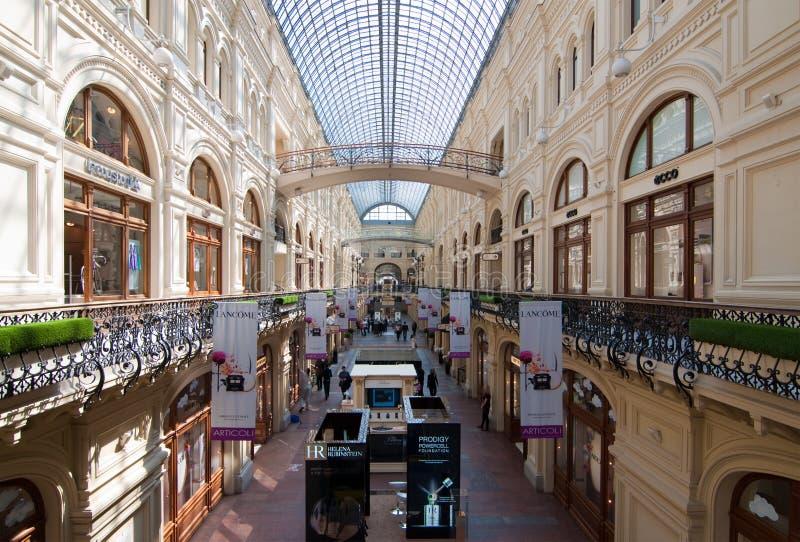 Εσωτερικό της ΓΟΜΜΑΣ λεωφόρων αγορών στη Μόσχα στοκ φωτογραφία