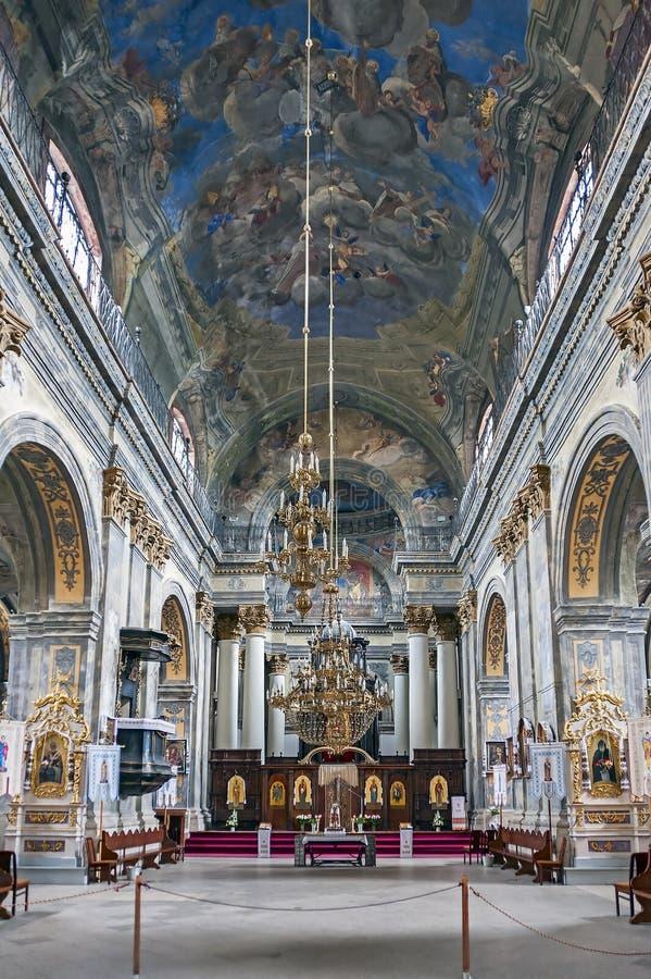 Εσωτερικό της εκκλησίας Αγίου Michael σε Lviv, Ουκρανία στοκ φωτογραφίες