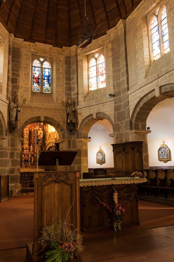 Εσωτερικό της εκκλησίας του Άγιου Βασίλη σε Barfleur Νορμανδία, Γαλλία στοκ φωτογραφίες με δικαίωμα ελεύθερης χρήσης