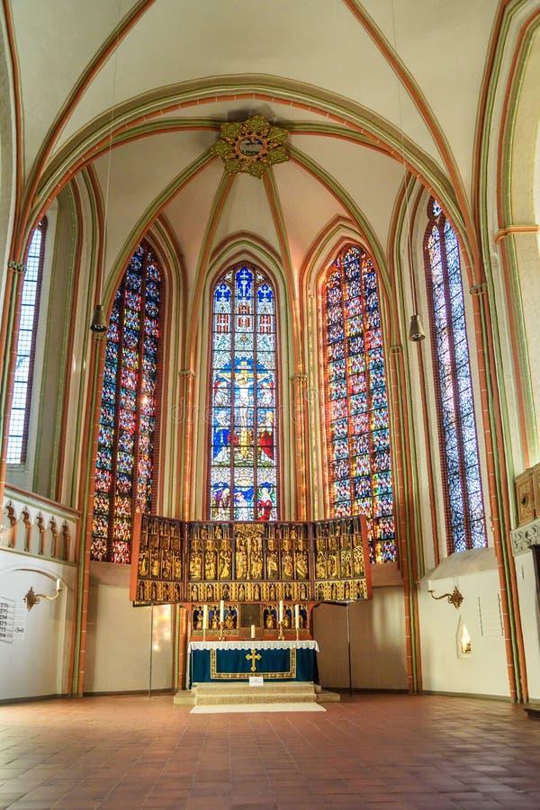 Εσωτερικό της εκκλησίας του John ο βαπτιστικός ή το Johanniskirche σε Luneburg r στοκ φωτογραφία με δικαίωμα ελεύθερης χρήσης