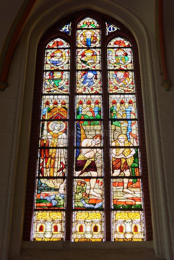 Εσωτερικό της εκκλησίας του John ο βαπτιστικός ή το Johanniskirche σε Luneburg r στοκ εικόνες