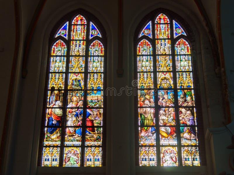 Εσωτερικό της εκκλησίας του John ο βαπτιστικός ή το Johanniskirche σε Luneburg r στοκ φωτογραφίες