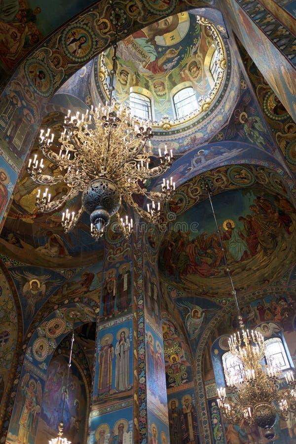 Εσωτερικό της εκκλησίας του Savior στο αίμα στη Αγία Πετρούπολη στοκ φωτογραφία με δικαίωμα ελεύθερης χρήσης