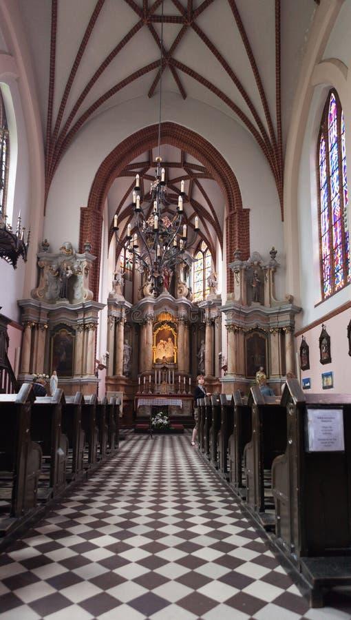 Εσωτερικό της εκκλησίας του ST Anne στοκ εικόνες με δικαίωμα ελεύθερης χρήσης