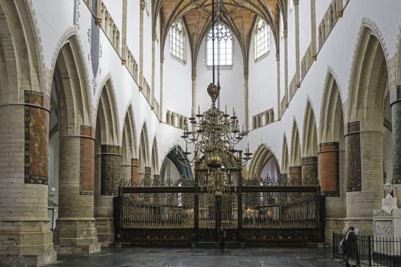 Εσωτερικό της εκκλησίας του ST Bavo στο Χάρλεμ στοκ εικόνα