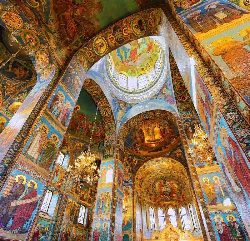Εσωτερικό της εκκλησίας Savior στο αίμα στοκ εικόνα με δικαίωμα ελεύθερης χρήσης