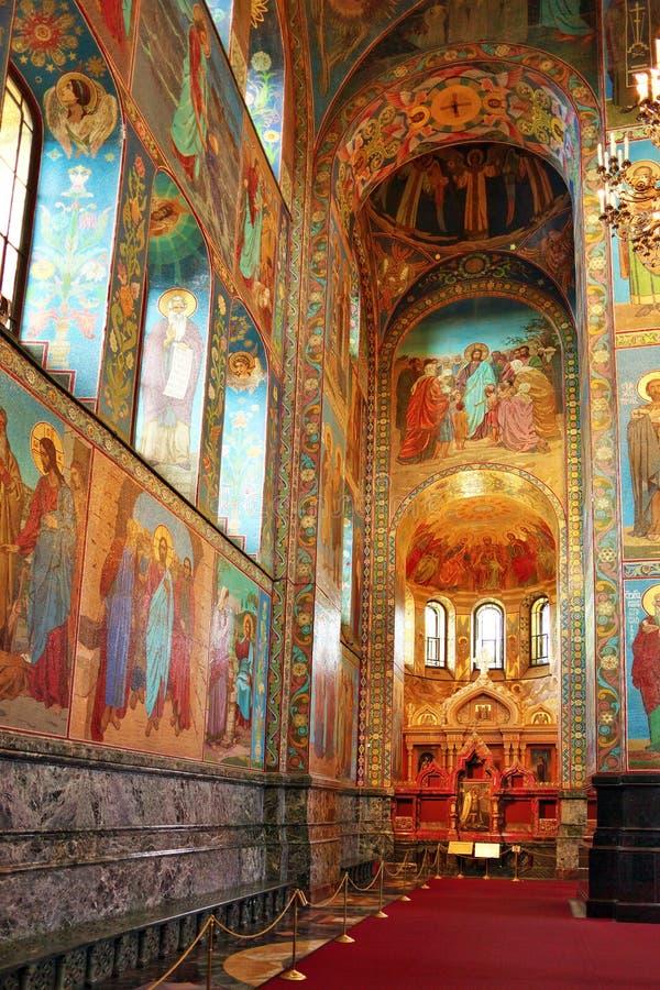 Εσωτερικό της εκκλησίας Savior στοκ εικόνα