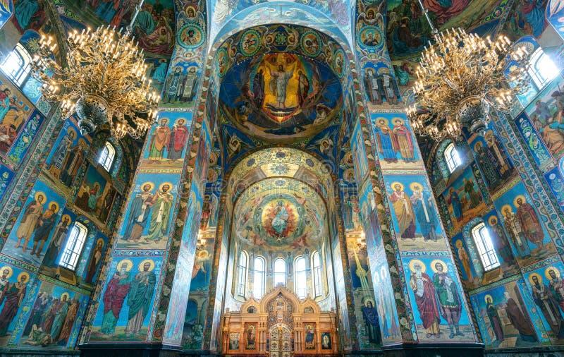 Εσωτερικό της εκκλησίας του Savior στο αίμα, Αγία Πετρούπολη στοκ εικόνα με δικαίωμα ελεύθερης χρήσης