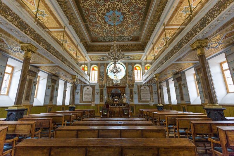 Εσωτερικό της μεγάλης συναγωγής στο Tbilisi, Γεωργία στοκ φωτογραφίες
