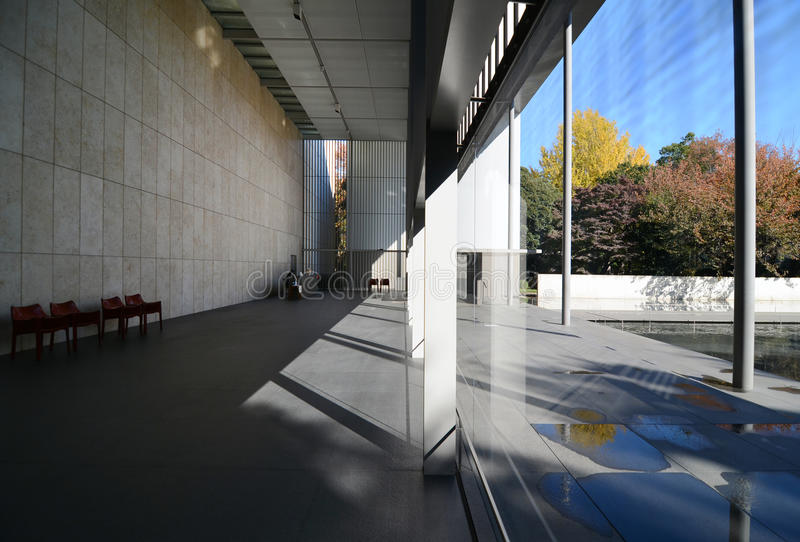 Εσωτερικό της στοάς των θησαυρών Horyuji σε Ueno, Τόκιο, Ιαπωνία στοκ εικόνα με δικαίωμα ελεύθερης χρήσης