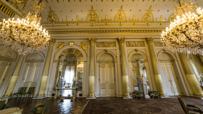 Εσωτερικό της Royal Palace, Βρυξέλλες, Βέλγιο στοκ εικόνα με δικαίωμα ελεύθερης χρήσης