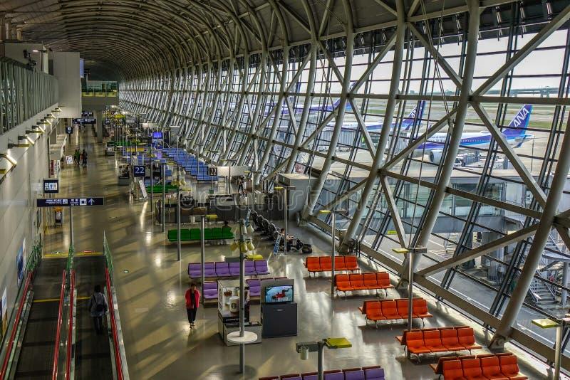 Εσωτερικό του αερολιμένα KIX της Οζάκα Kansai στοκ εικόνα