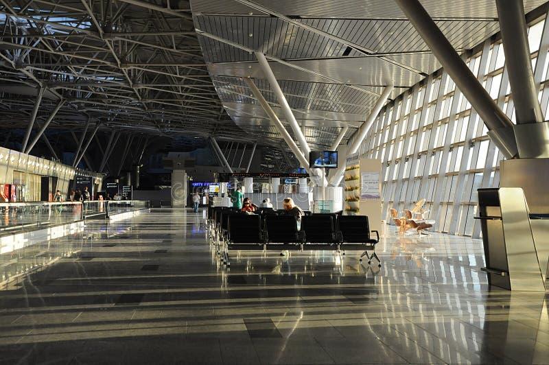 Εσωτερικό του αερολιμένα Vnukovo Μόσχα Ρωσία στοκ εικόνες με δικαίωμα ελεύθερης χρήσης