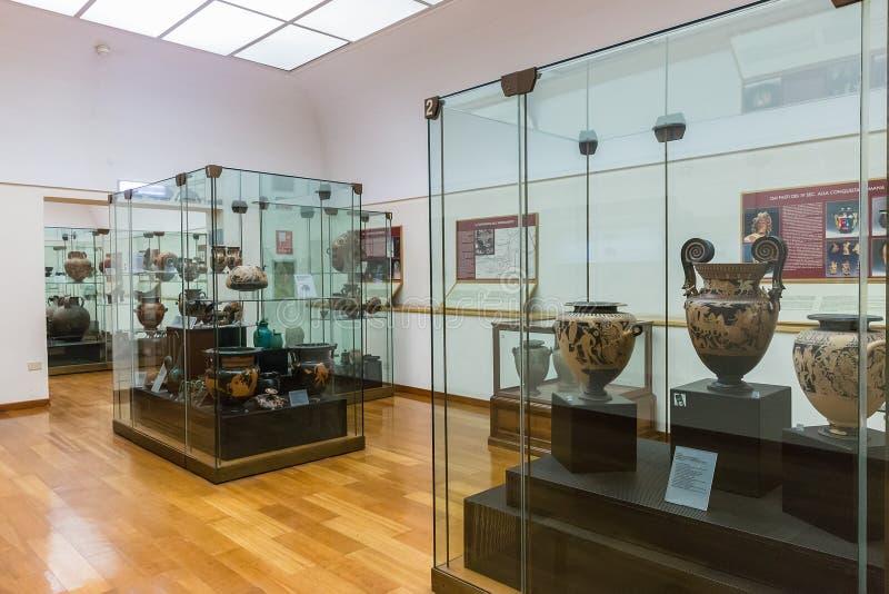 Εσωτερικό του εθνικού μουσείου Etruscan που στεγάζεται στη βίλα Giu στοκ φωτογραφίες με δικαίωμα ελεύθερης χρήσης
