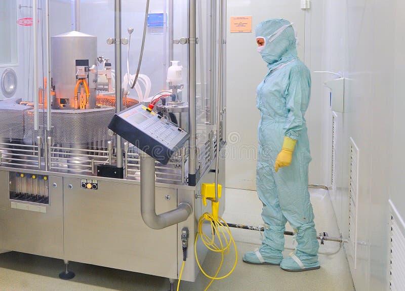 Εσωτερικό του εργοστασίου φαρμάκων Zentiva στοκ φωτογραφία με δικαίωμα ελεύθερης χρήσης