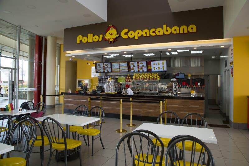 Εσωτερικό του εστιατορίου Pollos Copacabana γρήγορου φαγητού στοκ εικόνες