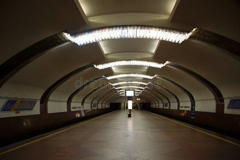 Εσωτερικό του ιδρύματος σταθμών μετρό πολιτισμού στοκ εικόνα