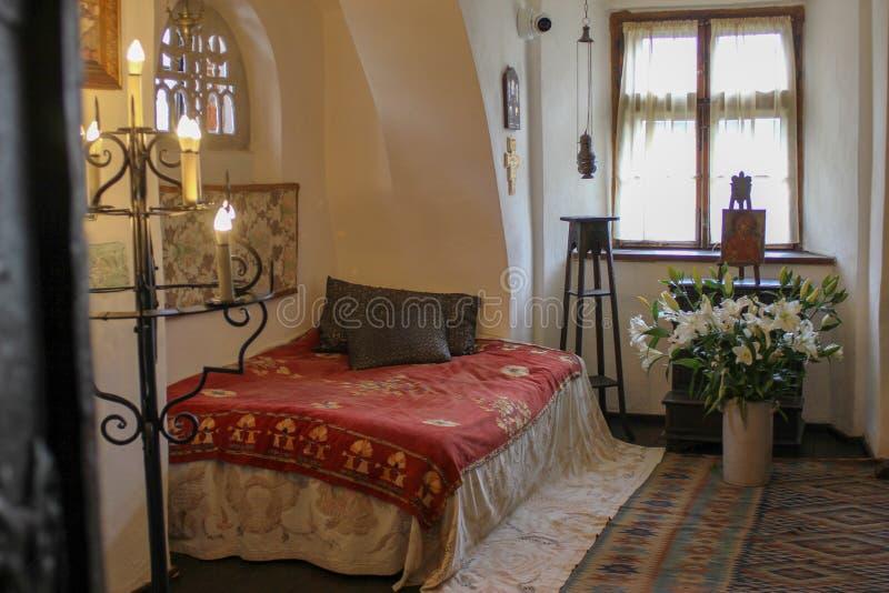Εσωτερικό του κάστρου πίτουρου στην Τρανσυλβανία, περιοχή Brasov της Ρουμανίας στοκ φωτογραφία