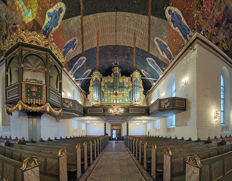 Εσωτερικό του καθεδρικού ναού του Όσλο, Νορβηγία στοκ εικόνες