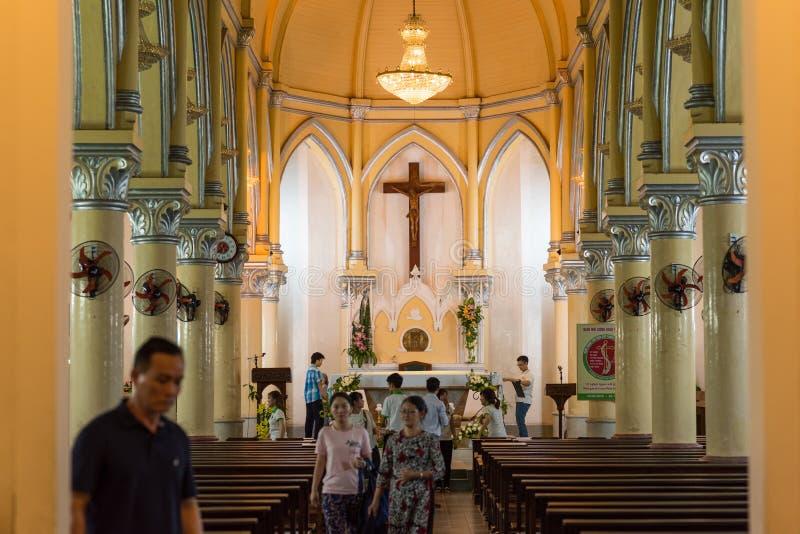 Εσωτερικό του καθεδρικού ναού Danang στοκ φωτογραφίες με δικαίωμα ελεύθερης χρήσης