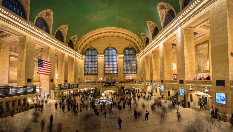 Εσωτερικό του μεγάλου κεντρικού σταθμού - Νέα Υόρκη, ΗΠΑ στοκ εικόνες με δικαίωμα ελεύθερης χρήσης