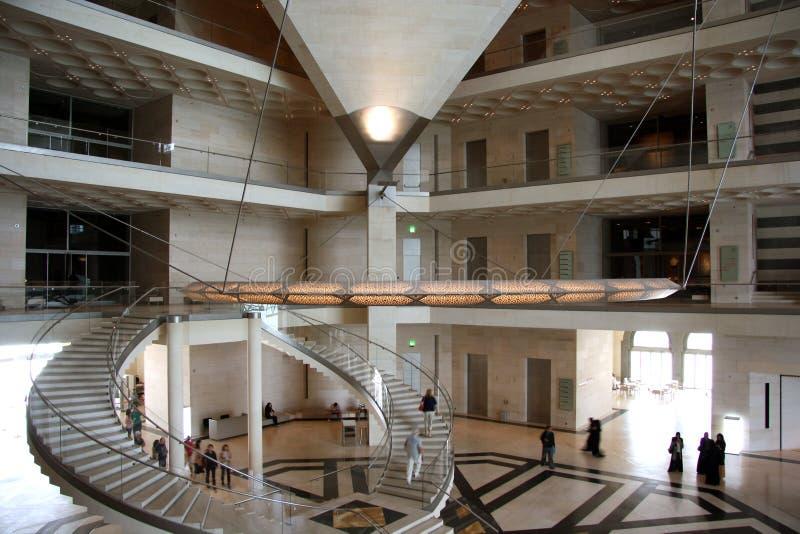 Εσωτερικό του μουσείου της ισλαμικής τέχνης σε Doha, Κατάρ στοκ εικόνες