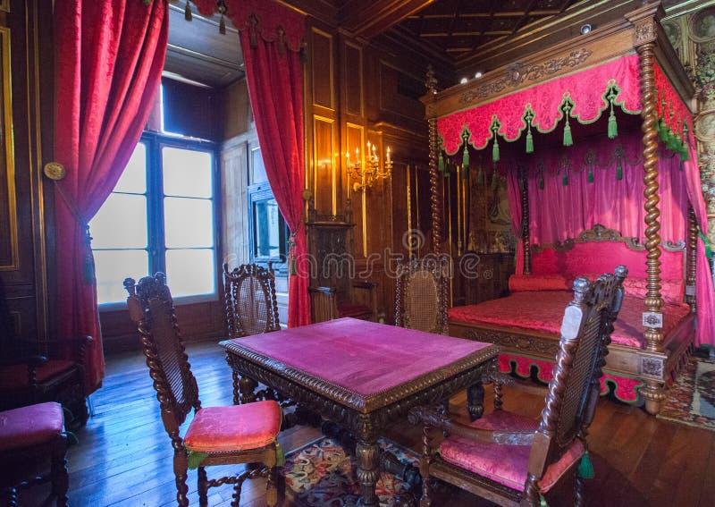 Εσωτερικό του Πάου Castle (πύργος de Πάου), Γαλλία στοκ εικόνες