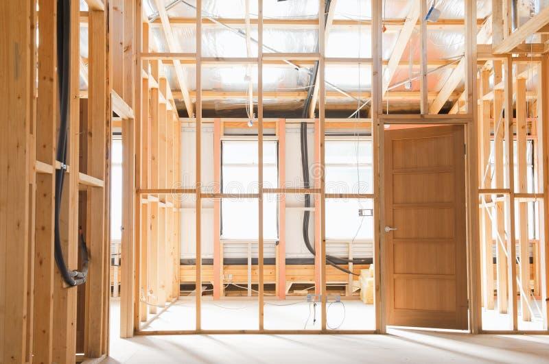 Εσωτερικό του σπιτιού κατασκευής στοκ εικόνες