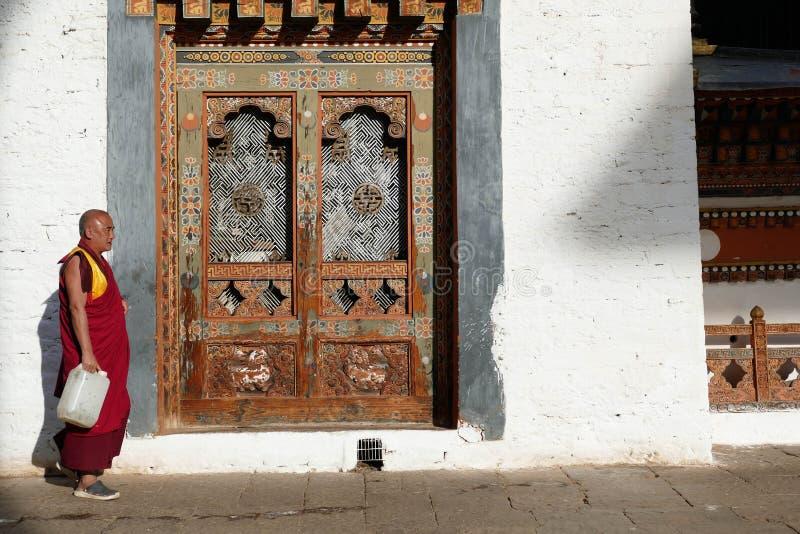 Εσωτερικό του φρουρίου Punakha Dzong στοκ εικόνα