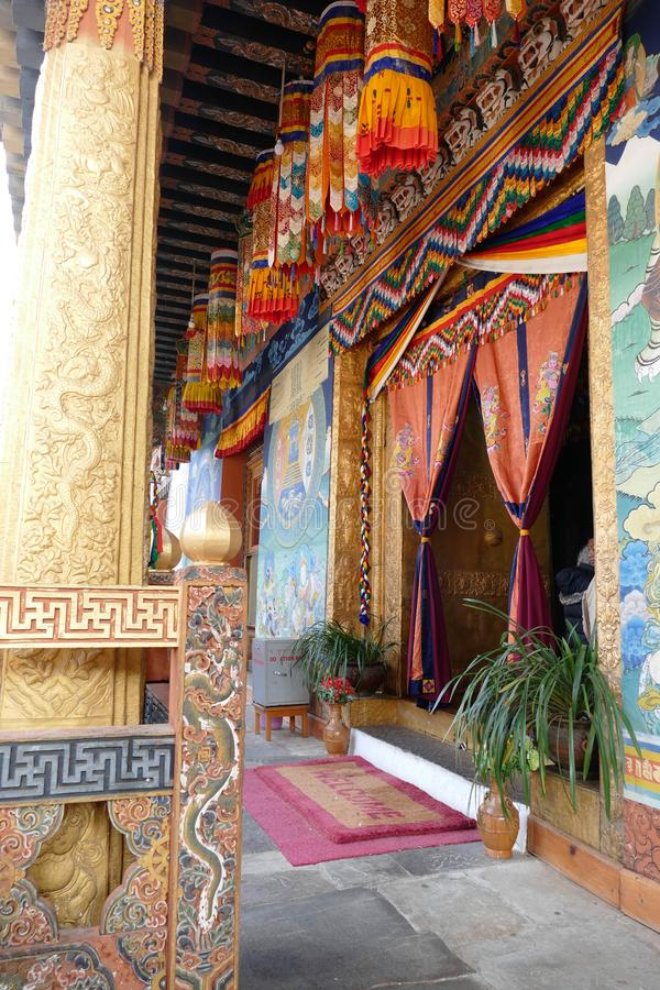 Εσωτερικό του φρουρίου Punakha Dzong στοκ εικόνα με δικαίωμα ελεύθερης χρήσης