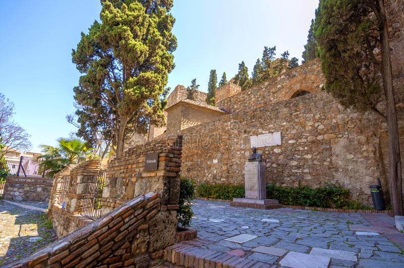 Εσωτερικό του Alcazaba της Μάλαγας, Ισπανία στοκ εικόνα με δικαίωμα ελεύθερης χρήσης