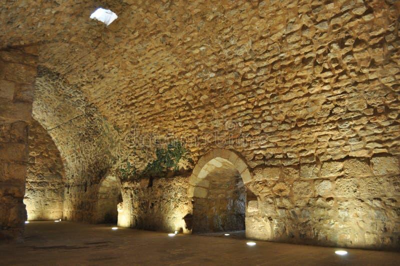 Εσωτερικό του Castle Ajloun στοκ φωτογραφία