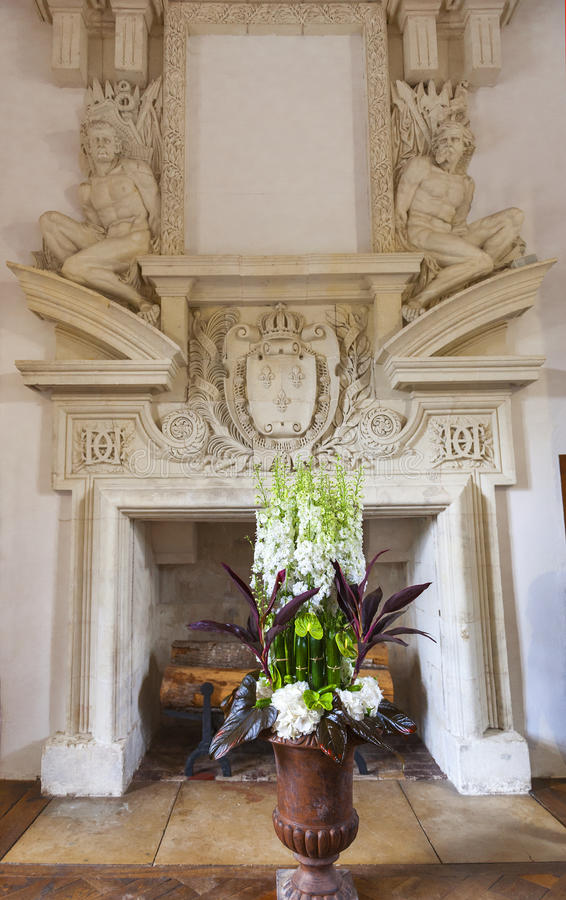 Εσωτερικό του Castle Chenonceau στοκ εικόνες με δικαίωμα ελεύθερης χρήσης
