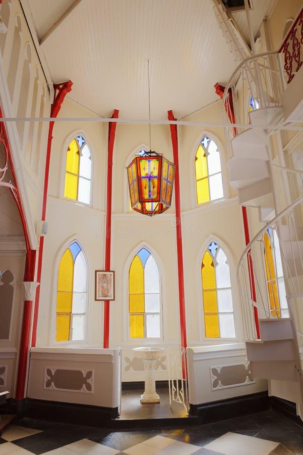 Εσωτερικό του catedral de SAN Marcos σε Arica, βόρεια Χιλή στοκ φωτογραφία