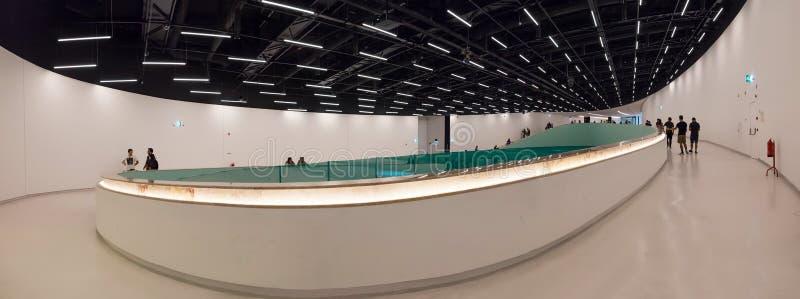 Εσωτερικό του MAAT - Μουσείο Τέχνης, αρχιτεκτονική και τεχνολογία στοκ φωτογραφία με δικαίωμα ελεύθερης χρήσης