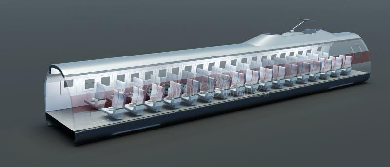 εσωτερικό τραίνο απεικόνιση αποθεμάτων
