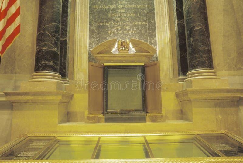 Εσωτερικό των εθνικών αρχείων, Ουάσιγκτον, Δ Γ στοκ φωτογραφίες με δικαίωμα ελεύθερης χρήσης