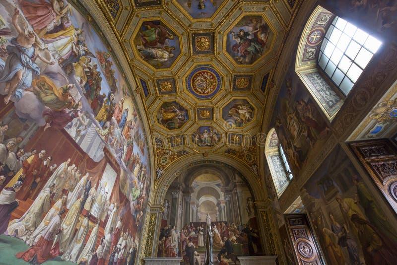 Εσωτερικό των δωματίων του Raphael, μουσείο Βατικάνου, Βατικανό στοκ εικόνα με δικαίωμα ελεύθερης χρήσης