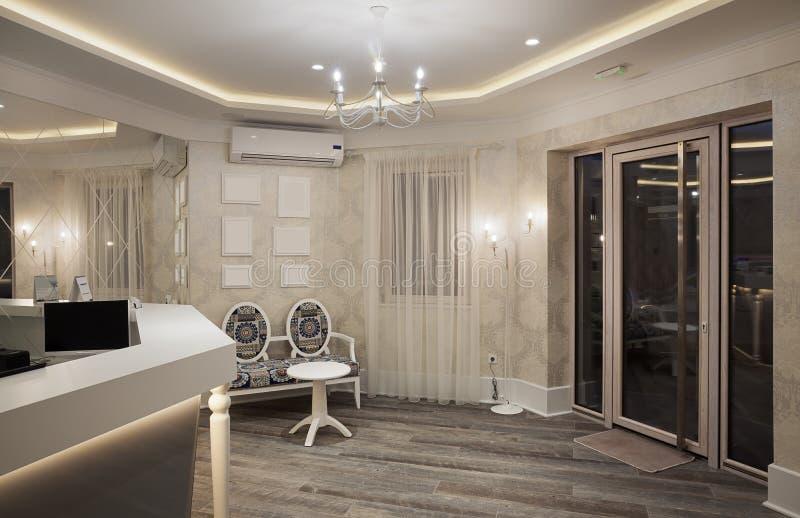 Εσωτερικό υποδοχής ξενοδοχείων στοκ φωτογραφίες