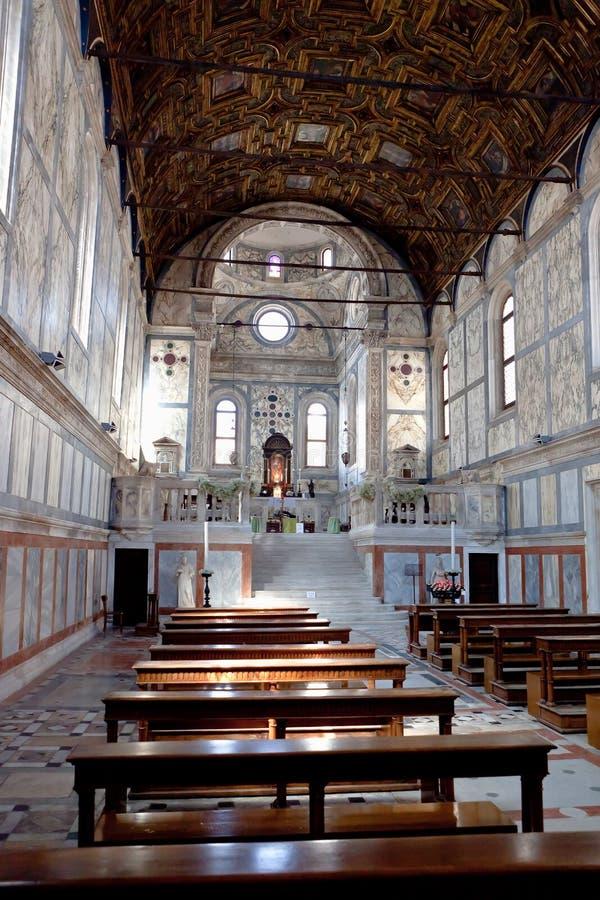 Εσωτερικό dei Miracoli, Βενετία, Ιταλία της Σάντα Μαρία στοκ φωτογραφίες με δικαίωμα ελεύθερης χρήσης