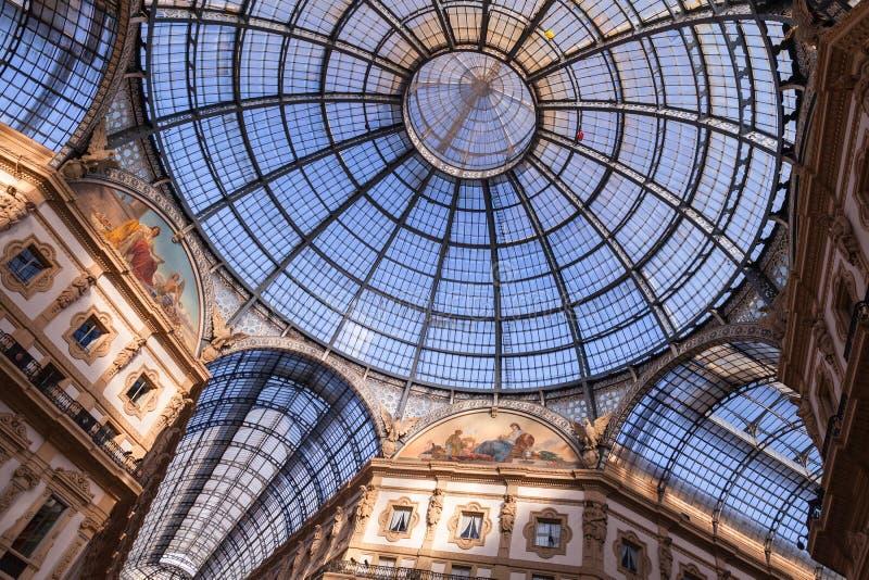 Εσωτερικό Galleria Vittorio Emanuele ΙΙ στοκ φωτογραφίες