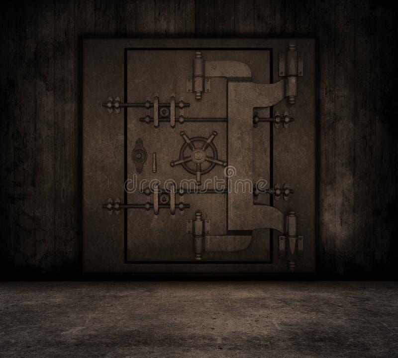 Εσωτερικό Grunge με τον υπόγειο θάλαμο τραπεζών ελεύθερη απεικόνιση δικαιώματος