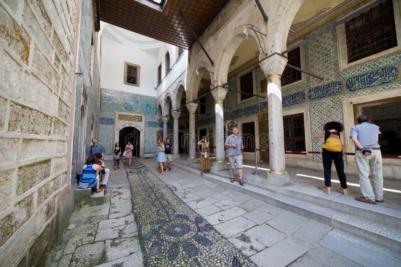 Εσωτερικό Harem παλατιών Topkapi στη Ιστανμπούλ στοκ εικόνες
