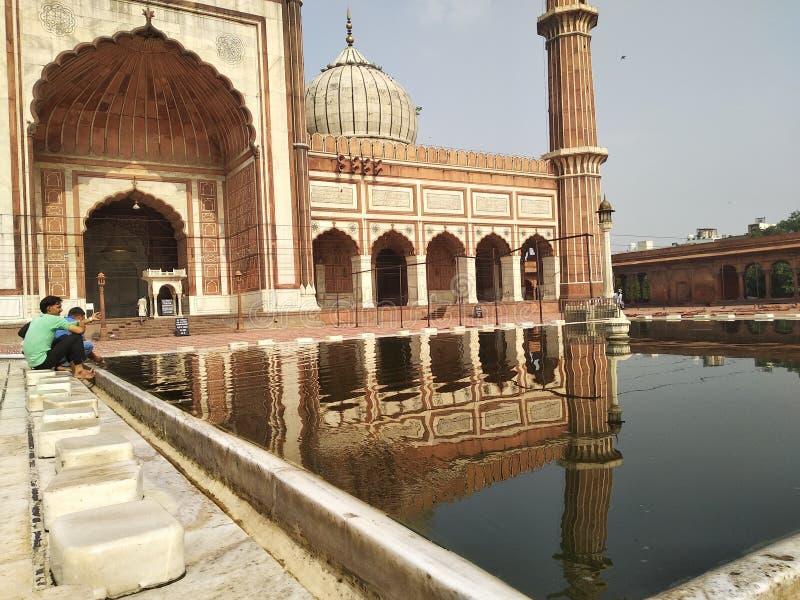 Εσωτερικό jama masjid στοκ εικόνα